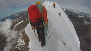 Walking On Top Of Mount Matterhorn