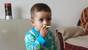 Kid Tries Smoking His Mother's Cigarette