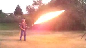 Home Built Flame Thrower
