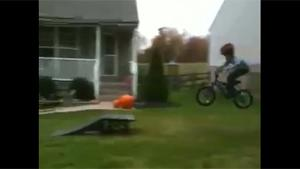 Kid Fails Bike Jump