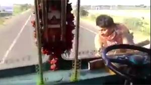Crazy Indian Bus Driver