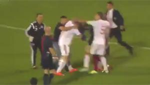 Massive Fight During Football Match