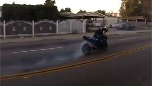 Suicidal Motorcyclist Makes Insane Drift