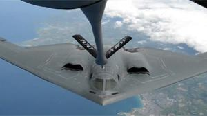 B-2 Stealth Bomber Mid Air Refueling
