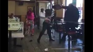 Crazy Ladies Create Havoc In McDonalds