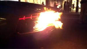 Lamborghini Aventador Catches Fire