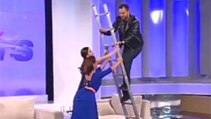Ladder Climbing Fail On Live TV