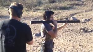 Firing Homemade Bazooka