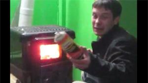 Throwing Gas Cannister In Wood Stove