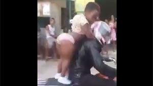 Twerking Midget On Bike