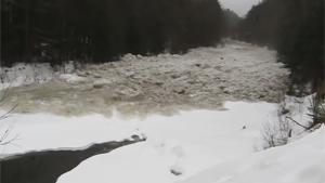 Tsunami Of Ice In River