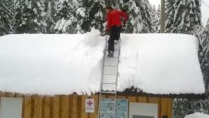 Cleaning Snow From The Roof