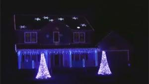 Christmas Lightshow On Heavy Metal