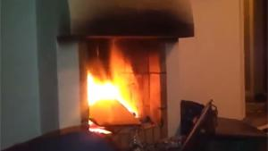 Spray Can In Fireplace