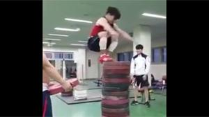 Epic Jump Contest In Gym