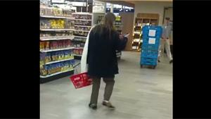 Drunk Guy Is Lost In Supermarket