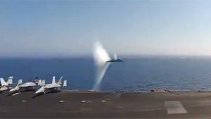 Fighter Jet Breaks Sound Barrier