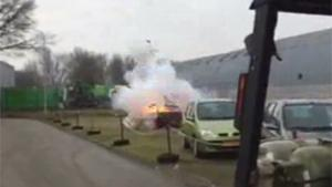 Firecracker Blows Up Car