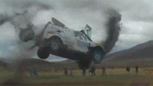 Heavy Double Crash At Dakar Rally