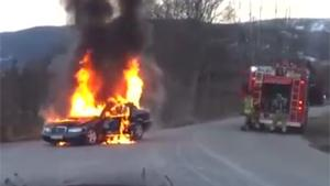 Putting Out An Ordinary Car Fire, Twice!