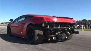 Tuned Lamborghini Crashes Into Lake