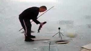 Hilarious Ice Fishing Fail