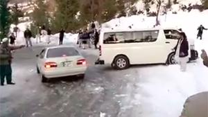 Icy Road In Pakistan