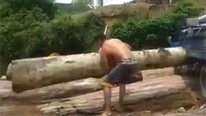 Lifting A Massive Log