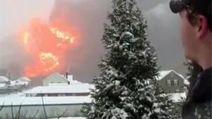 Massive Explosion After Train Derailed