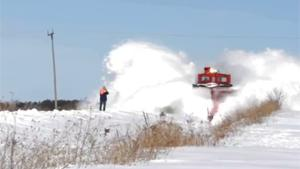 Close Encounter With Snow Plow Train