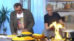 Tv Host Sets Kitchen On Fire