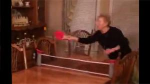 Granny Playing Ping Pong