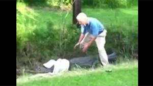 Grandpa Tries To Catch An Alligator