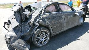 Wrecking Audi RS4 After Rollover
