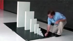 Cool Domino Experiment