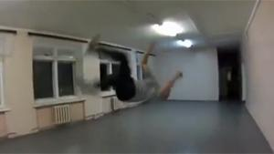 Indoor Parkour Fail