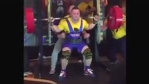 Weightlifter Snaps Mucles
