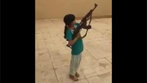 Young Girl Firing AK-47  Goes Wrong
