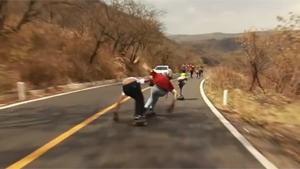 Longboarders Crashing Hard