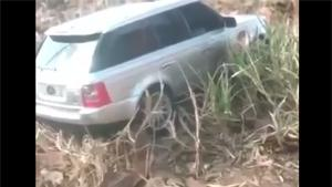 Range Rover Stuck In Wilderness