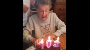102 Year Old Ruins Birthday Cake