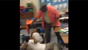 Teacher Breaks Up Fight