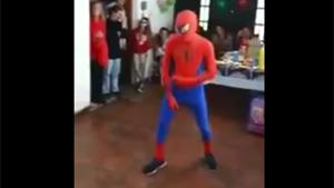 Spiderman KO At Kids Party