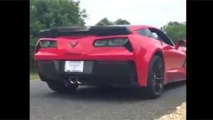 Wrecking Brand New Corvette