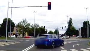 Running Red Light Crash