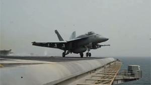 Launching F-18s From Aircraft Carrier