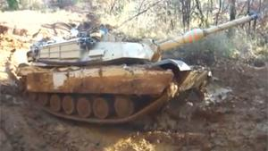 Abrams Tank Stuck In Mud