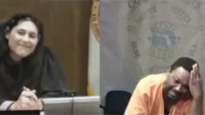 Judge Recognizes Defendent From School