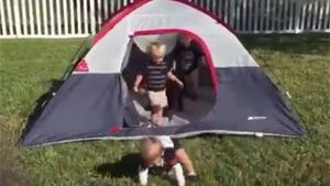 Toddlers VS Tent