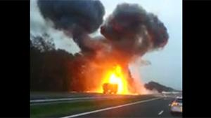 Truck Explodes